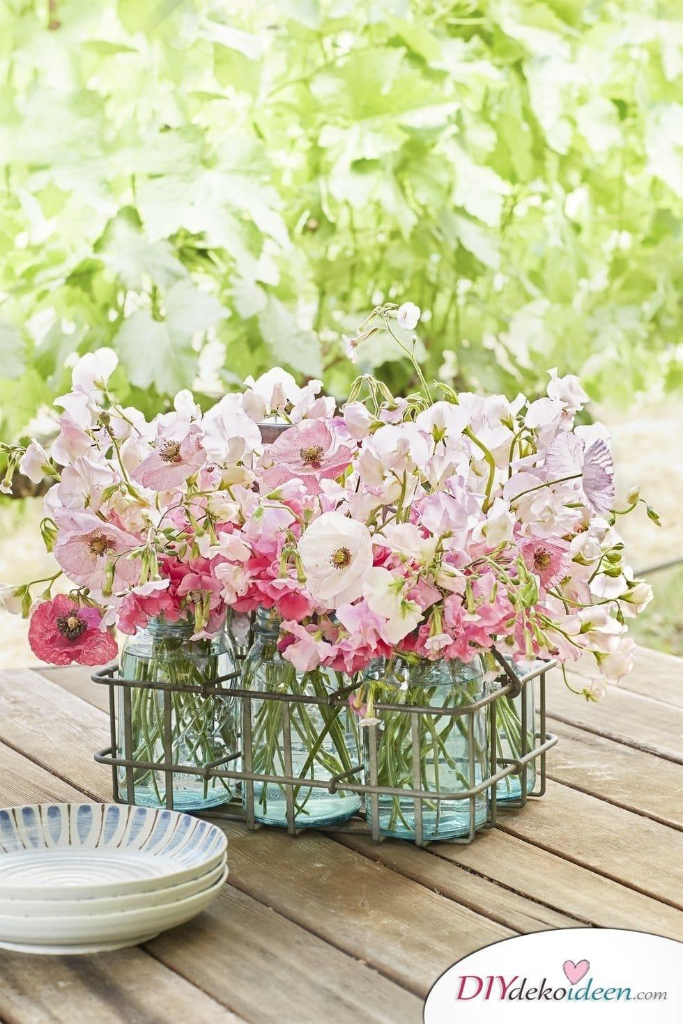 Zauberhafte Diy Dekoideen Fur Fruhlingstischdeko Mit Blumen