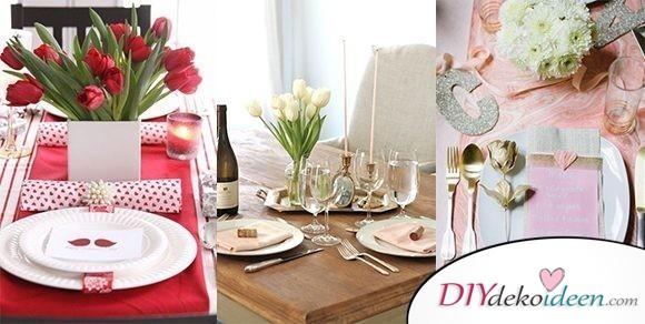 Mit Valentinstag Tischdeko sorgst du für romantische Stimmung