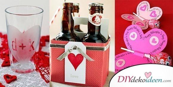 DIY Valentinstag Bastelideen für Karten, Deko und Geschenke