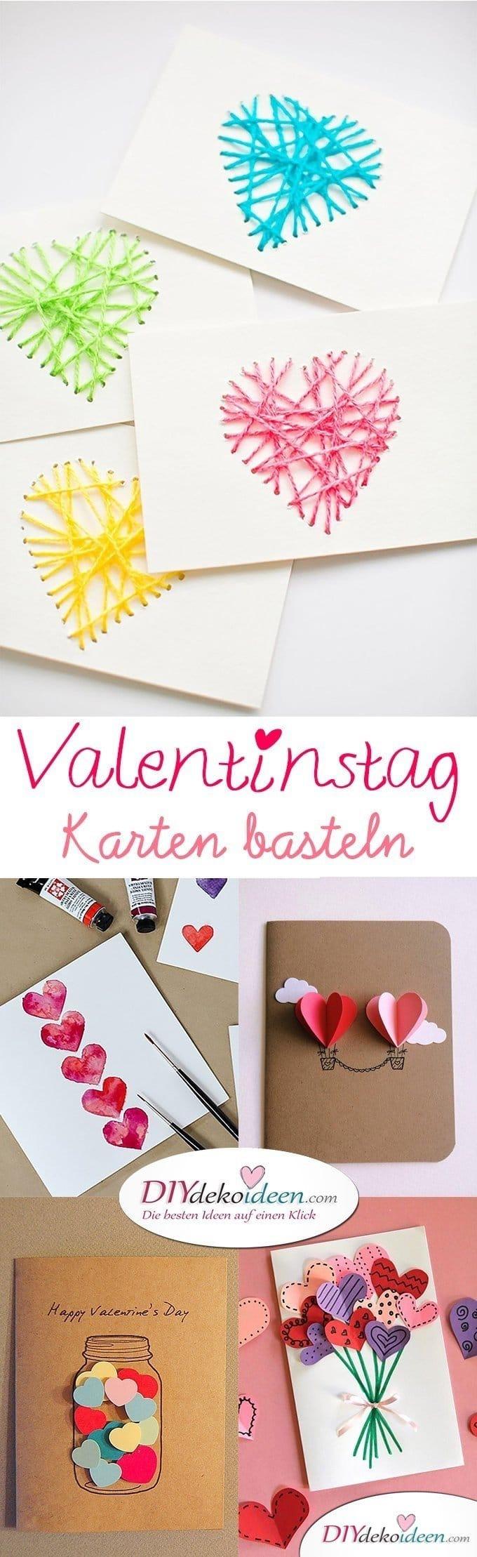 Valentinstag Karten basteln, Valentinstag, Valentinstag basteln, Valentinstag Bastelideen, DIY Bastelideen, romantisch, Karten basteln