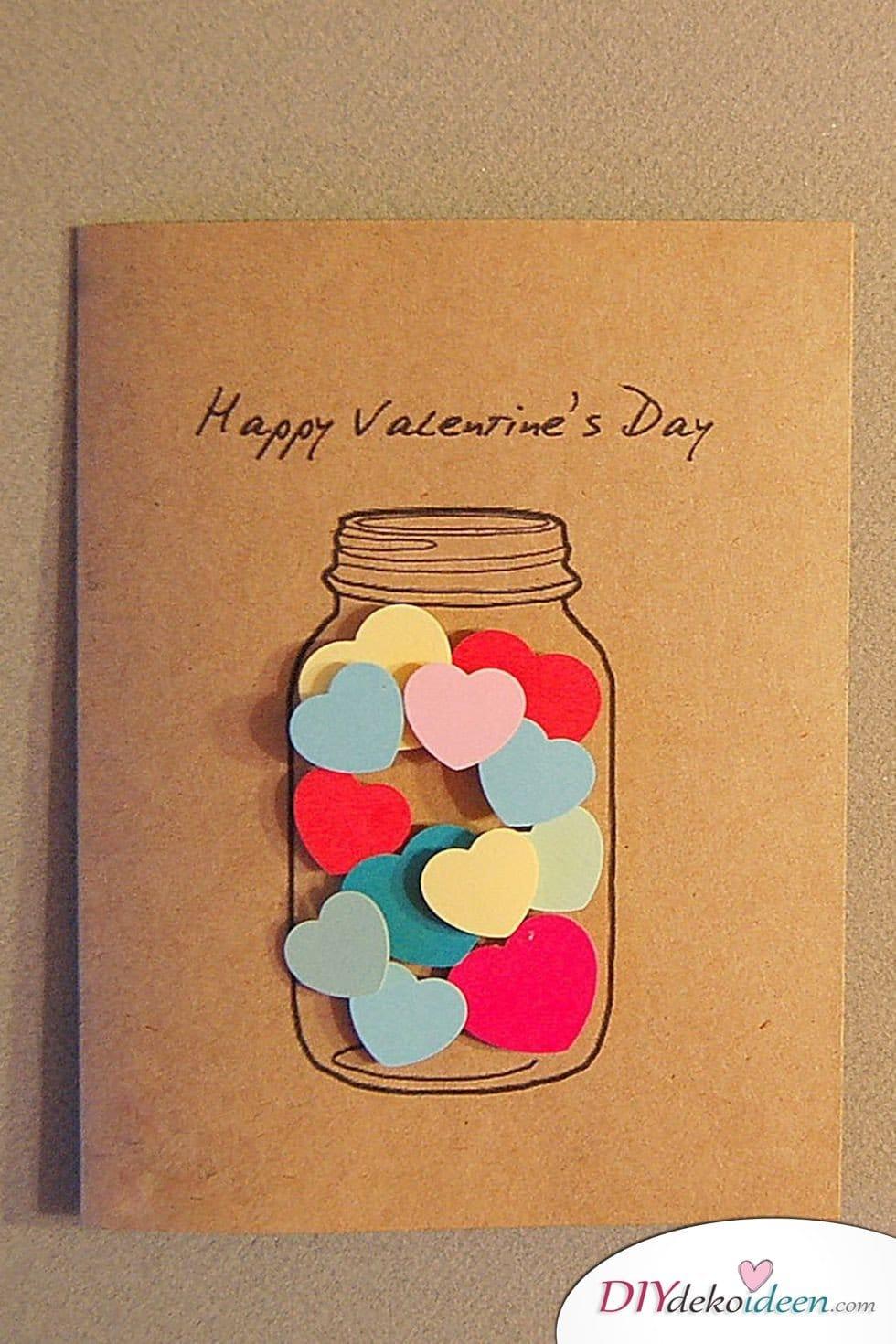 Favorit Zum Valentinstag Karten basteln geht leicht mit diesen DIY DV25