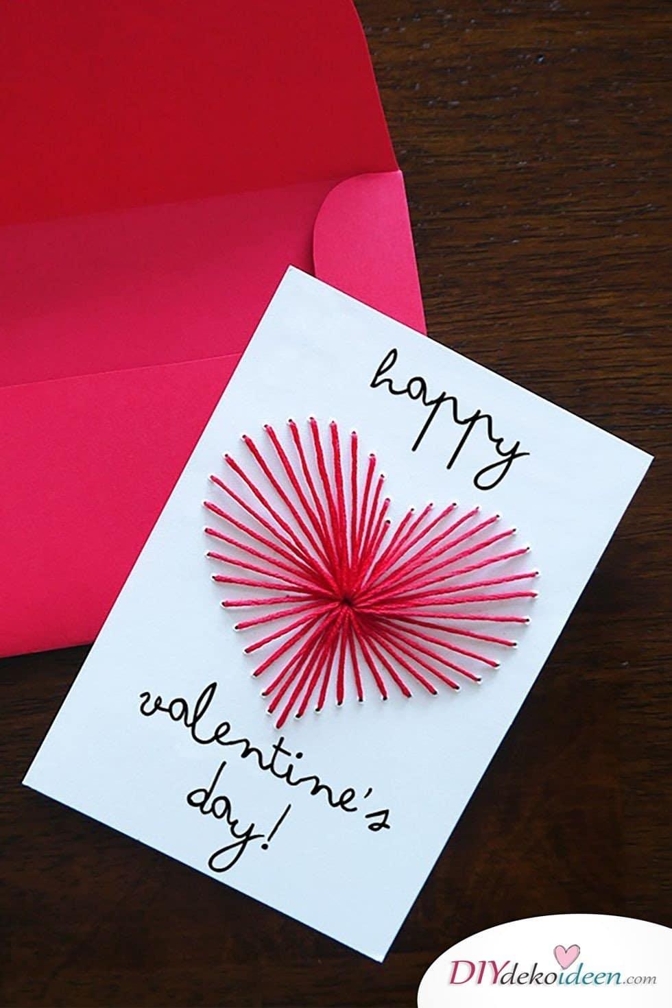 Bestickte Valentinstag Karten basteln, Valentinstag Karten basteln, Valentinstag, Valentinstag basteln, Valentinstag Bastelideen, DIY Bastelideen, romantisch, Karten basteln