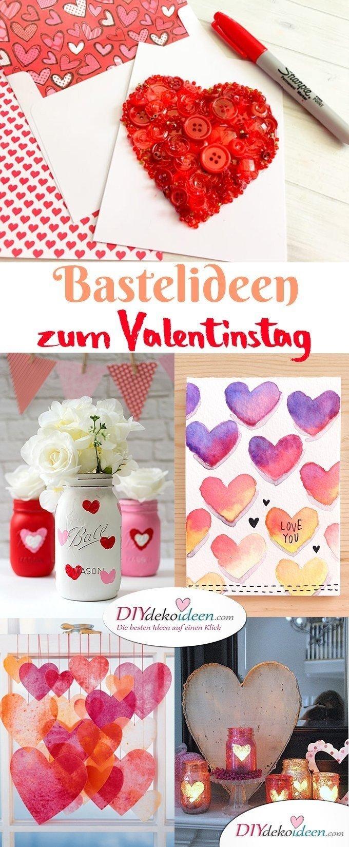 DIY Bastelideen zum Valentinstag, Valentinstag Deko Ideen, Deko Valentinstag, dekorieren, DIY Dekoideen, Deko basteln, romantische Deko, Geschenkidee Valentinstag