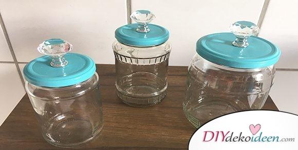 Süße Upcycling-Idee aus alten Glaskonserven