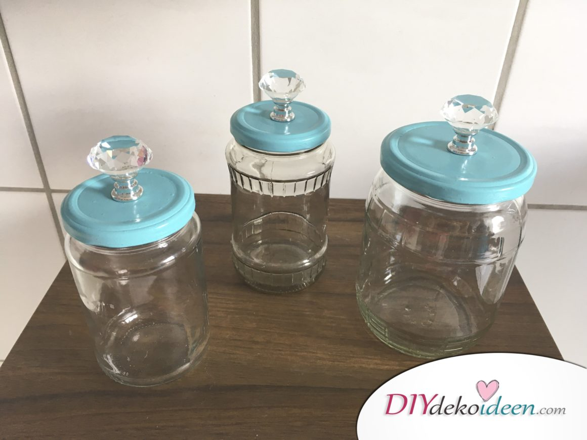 DIY Aufbewahrungsglas, Upcycling, Bad, DIY Dekoideen, DIY Bad, Badaccessoire