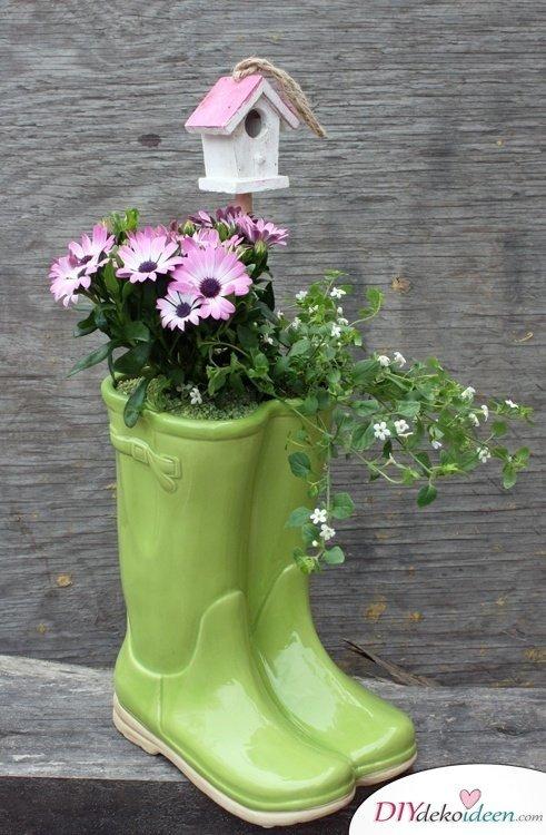 Garten DIY Dekoideen, DIY Dekoideen, Gartendeko, Garten dekorieren, Frühling Garten, Frühjahr Garten, Dekoideen, Blumendeko