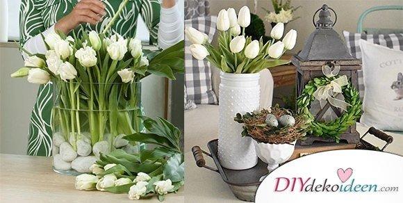 DIY Dekoideen für hübsche und farbenfrohe Oster Tischdeko