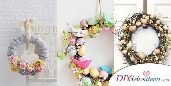 Begrüßt den Frühling mit diesen DIY Osterkranz Ideen