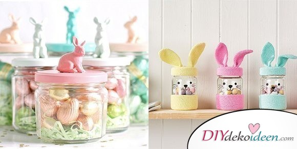 So einfach könnt ihr mit diesen DIY Bastelideen zu Ostern Gläser dekorieren