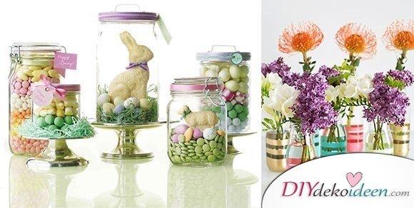 Weitere entz ckende diy bastelideen f r gl ser dekorieren zu ostern - Glaser dekorieren ...