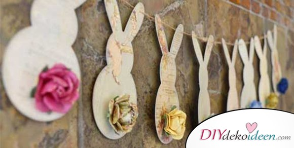 Zu Ostern Girlanden basteln mit diesen DIY Bastelideen
