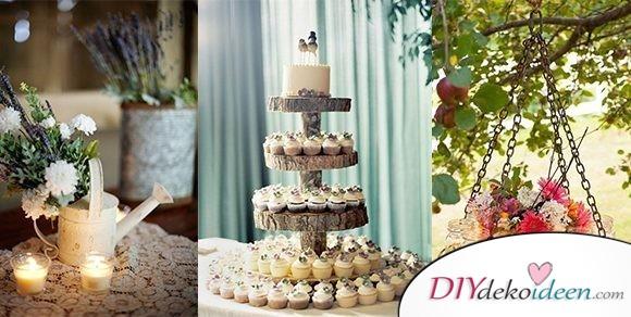Die schönsten DIY Dekoideen für eine rustikale Hochzeit