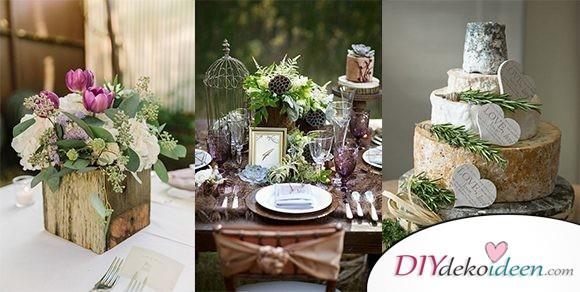 Begeistert eure Gäste mit diesen DIY Dekoideen für rustikale Hochzeitsdeko
