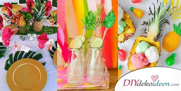 DIY Dekoideen für eine tropische Party bei euch zuhause