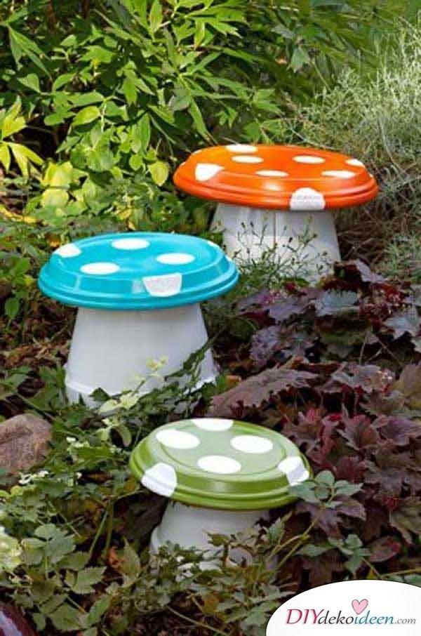 Gartenprojekte zum Selbermachen, Gartenprojekte, Garten DIY Dekoideen, DIY Dekoideen, Gartendeko, Garten dekorieren, Frühling Garten, Frühjahr Garten, Dekoideen, Blumendeko