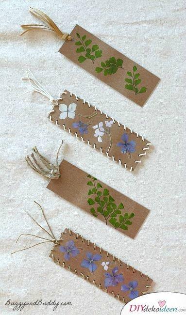 Lesezeichen basteln, Bastelideen mit gepressten Blumen, DIY Bastelideen, DIY Dekoideen, Blumen pressen, Dekoidee, Blumendeko, Wanddeko basteln,