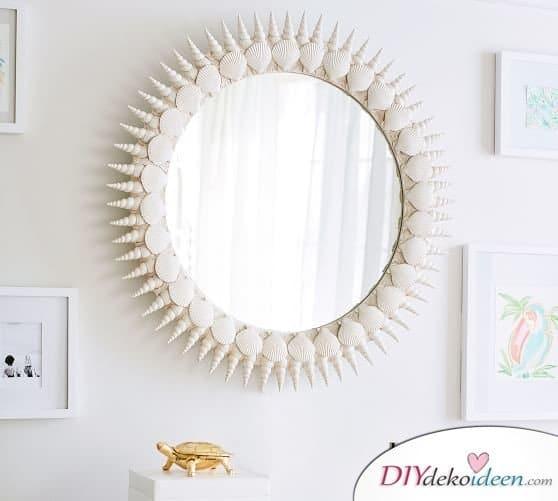 Spiegel Verschönern, Rahmen Dekorieren, DIY Dekoideen, Dekorieren, Spiegel, Zimmer  Deko,