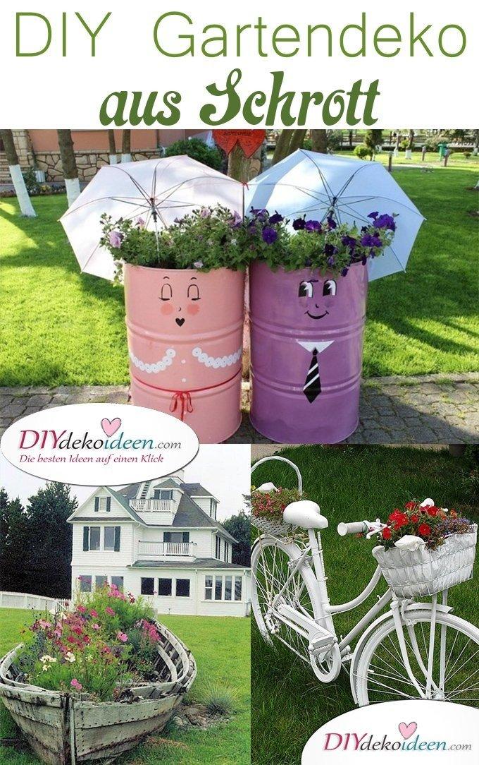 Ordinaire Gartendeko Aus Schrott,Garten DIY Dekoideen, DIY Dekoideen, Gartendeko,  Garten Dekorieren,