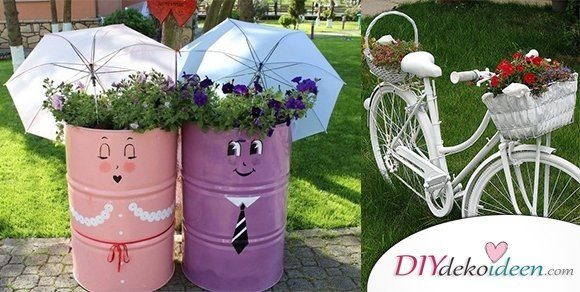 Super kreative DIY Dekoideen für Gartendeko aus Schrott