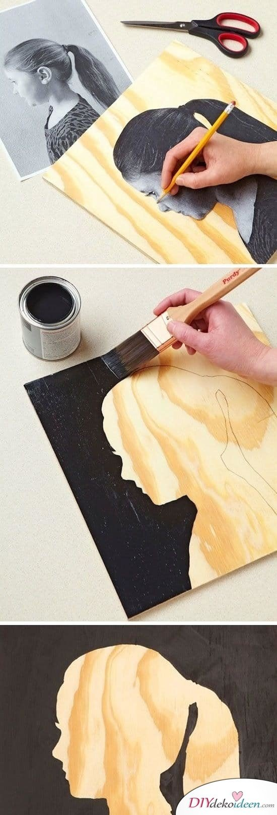 einfache Kunst selbermachen, Kunst malen, Bild malen, Bild basteln, Wanddeko, Wanddeko Idee, DIY Dekoideen, DIY Bastelideen