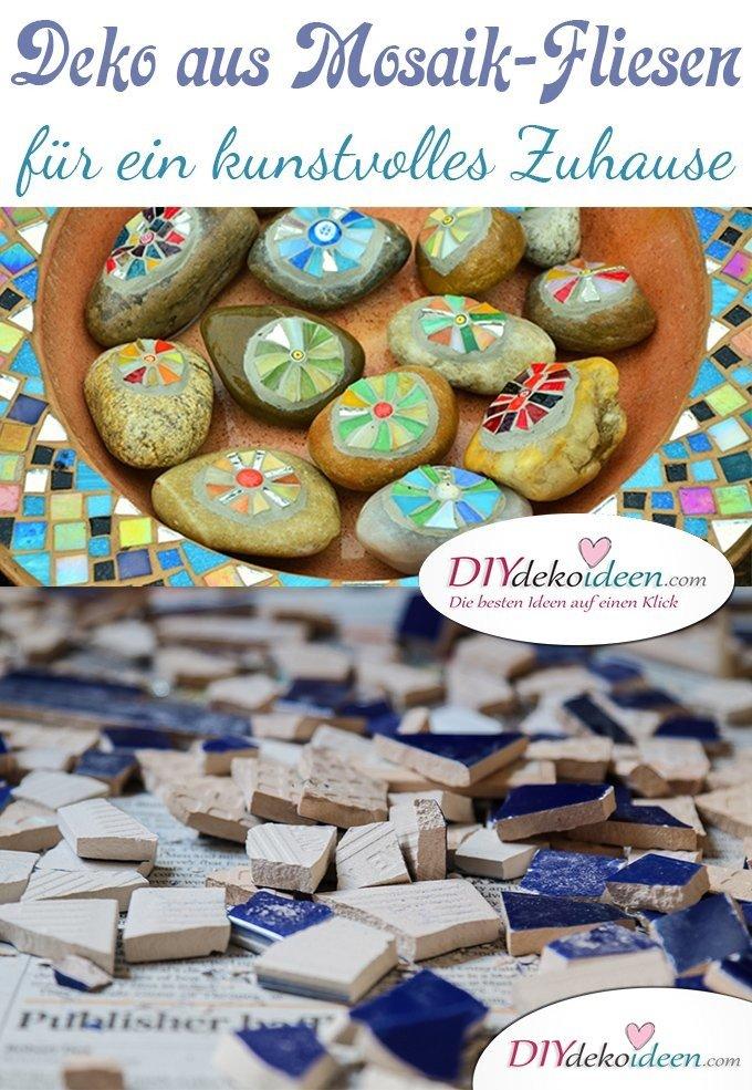 Dekoratives aus Mosaik-Fliesen, diy Dekoideen, diy Bastelideen, Interieur, Wohnideen, wohnen, Deko, dekorieren, Fliesen, Mosaik Fliesen