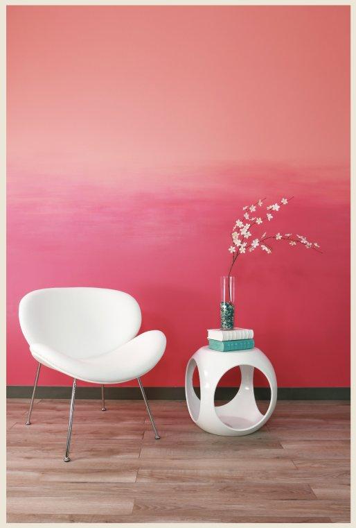 DIY Wand selber streichen - Ombre Effekt mit Pink