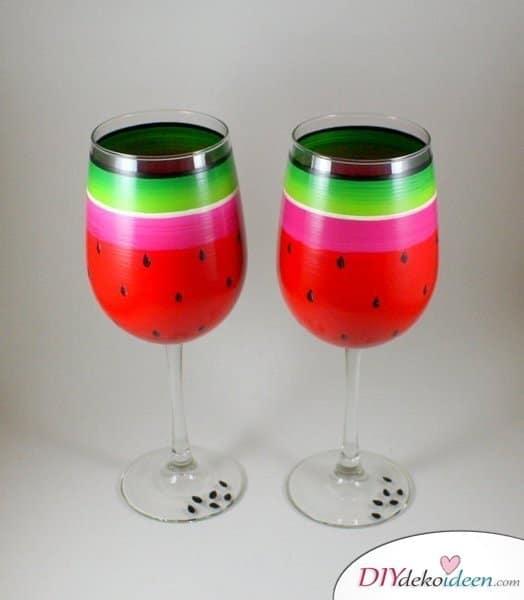 Sommerdeko - DIY Dekoideen - Gläser dekorieren