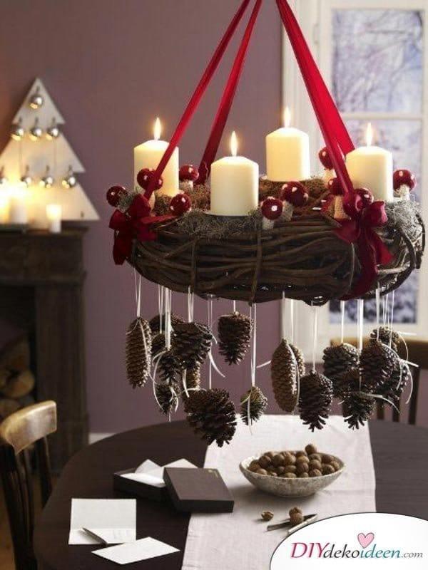 Adventskranz selber machen - 10+ Ideen - Adventszeit basteln