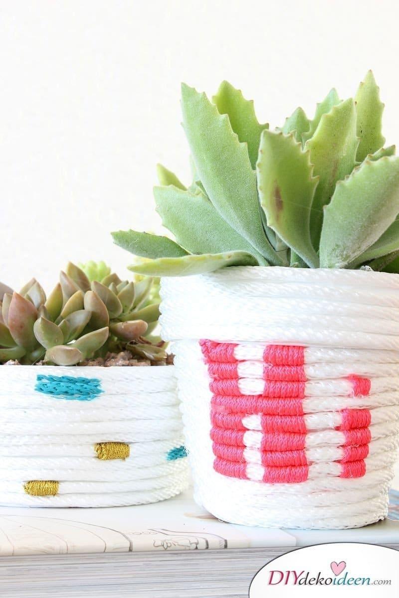 DIY Blumentöpfe - Deko-Ideen