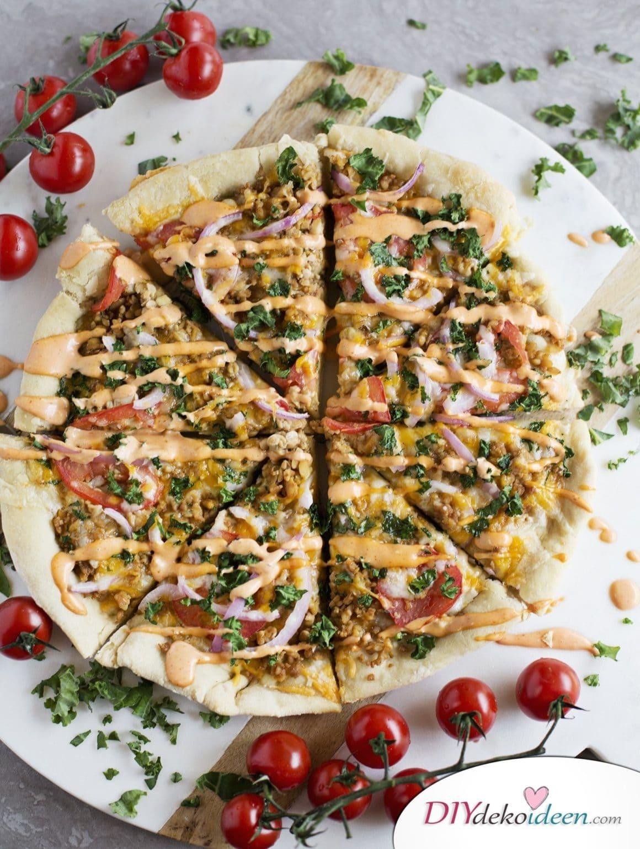 Diese Pizza beweist, dass die vegetarische Ernährung himmlisch ist