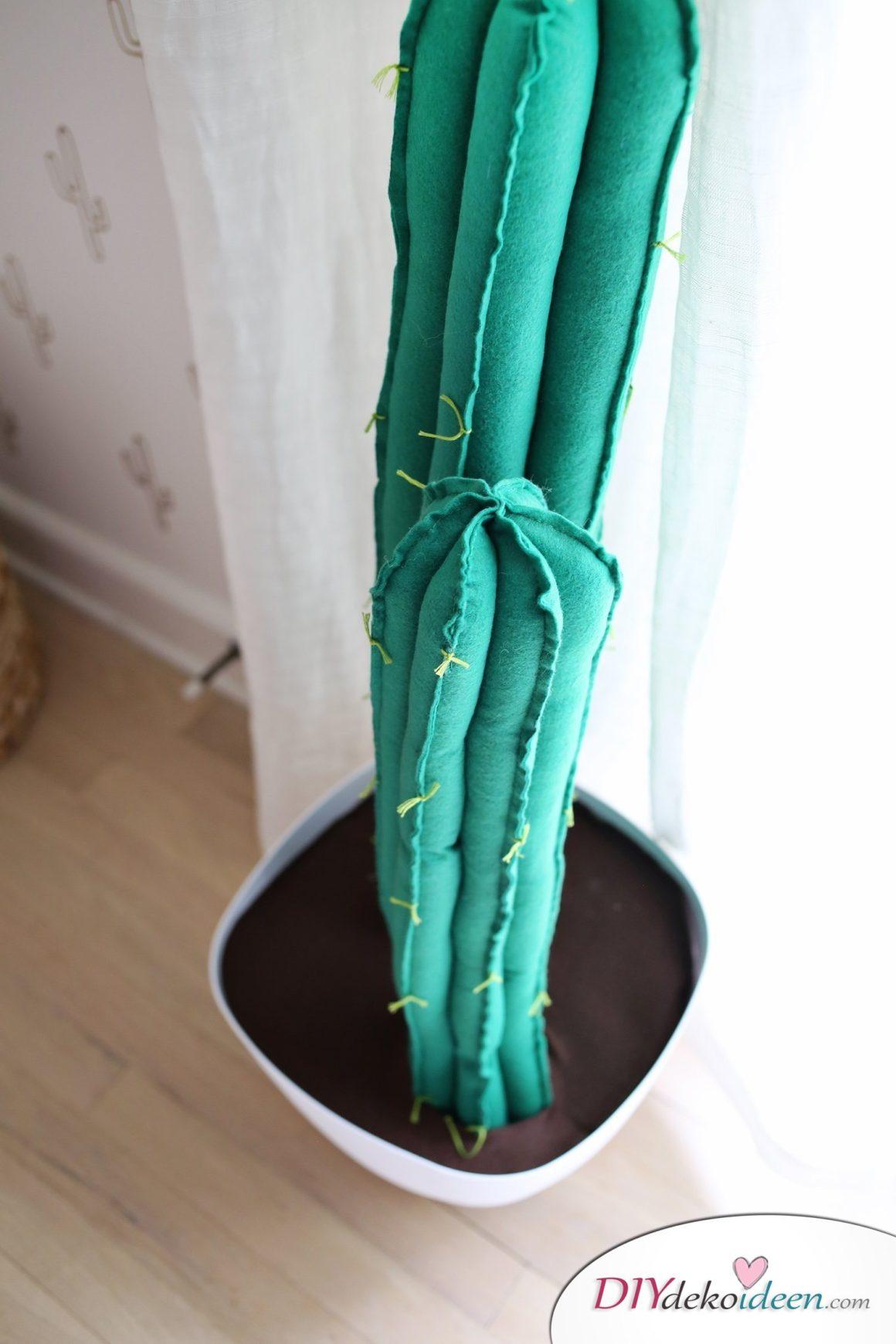 So kann man aus Filz einen tollen Kaktus selber machen - DIY Kaktusse
