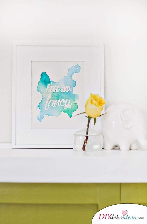 DIY Aquarell Bild - Wanddeko Ideen