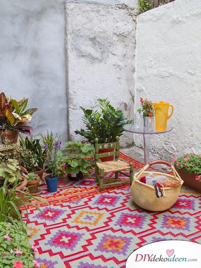 Wohlfühloase einrichten - Kuschelecke selber machen mit vielen Pflanzen