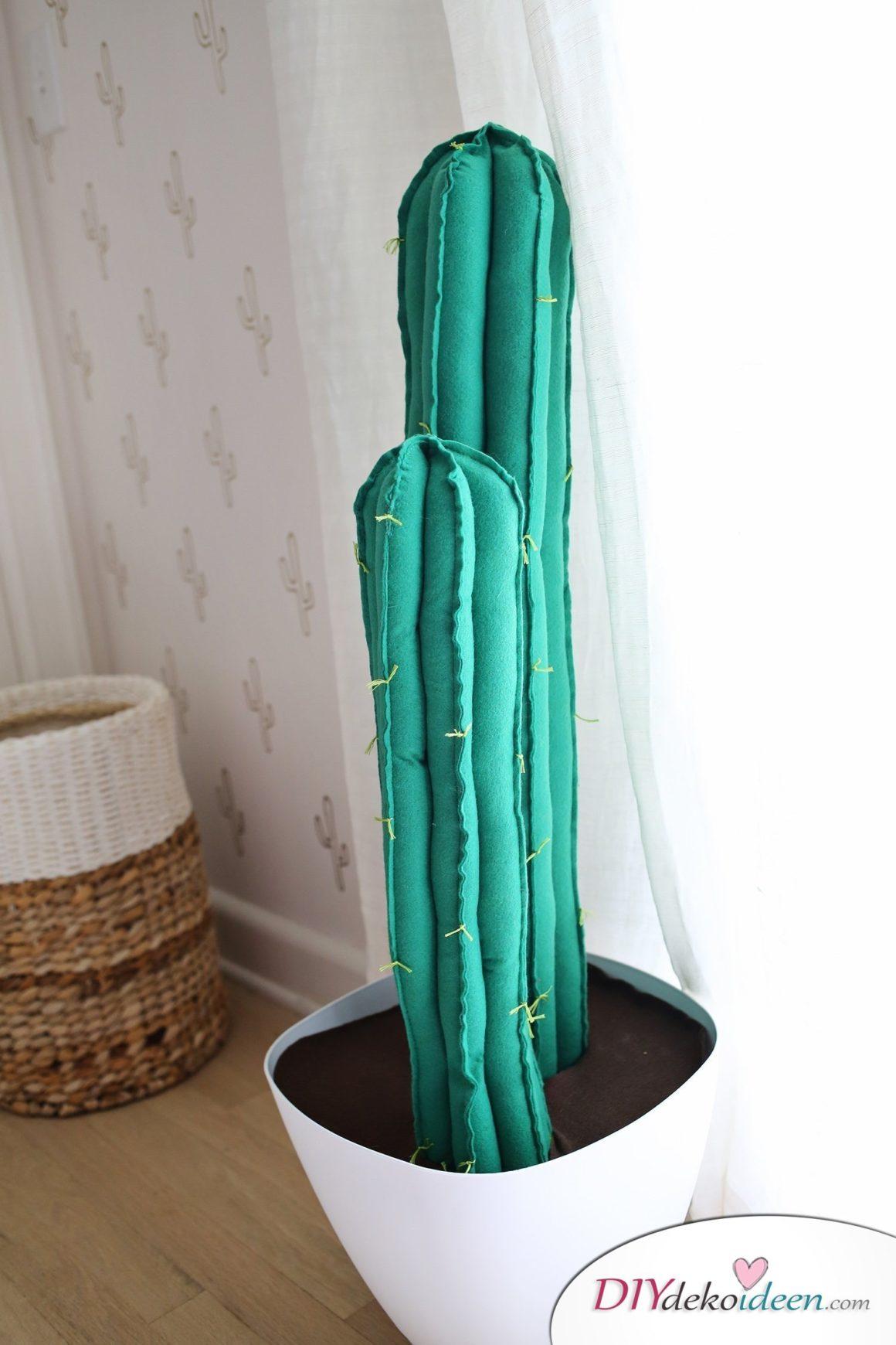So kann man aus Filz einen tollen Kaktus selber machen - Kaktus aus Filz