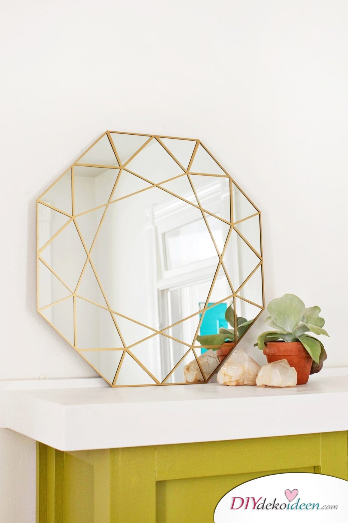 DIY Spiegel, moderne Wanddeko