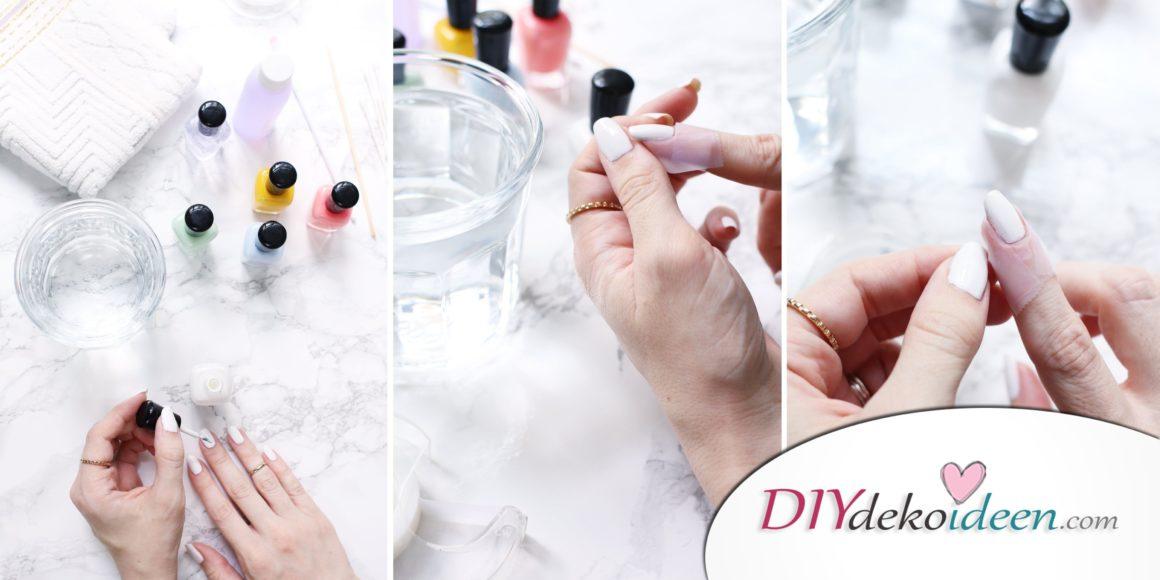 DIY Nailart wassermarmorierte Sorbet-Nägel -  DIY Wassermarmor Maniküre