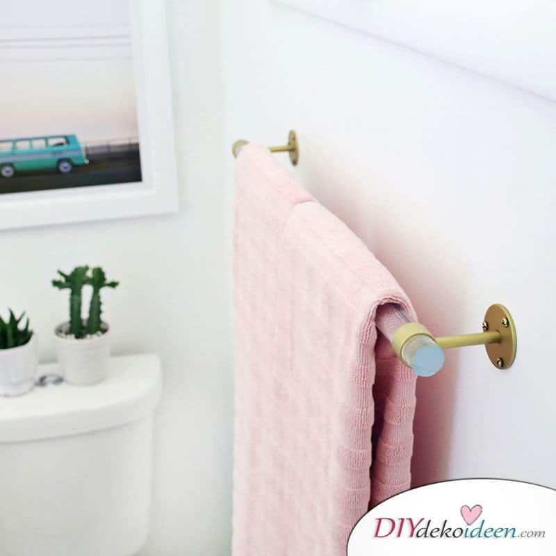 DIY Handtuchhalter aus Plexiglas selber machen - Bad-Deko