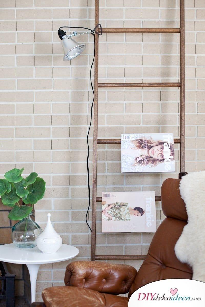 Leiter als Wohndeko nutzen - DIY Möbel