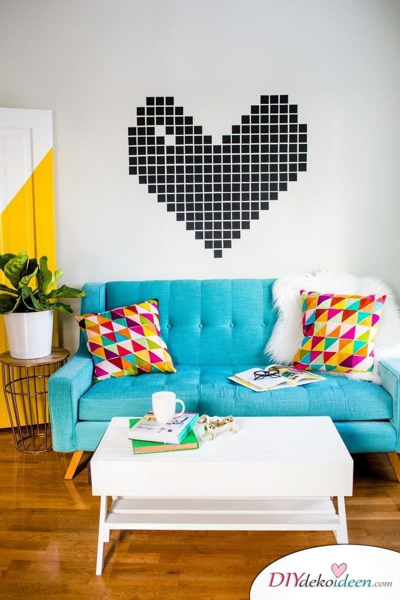 DIY Wanddeko zum Aufkleben - Deko Ideen für Mietwohnungen