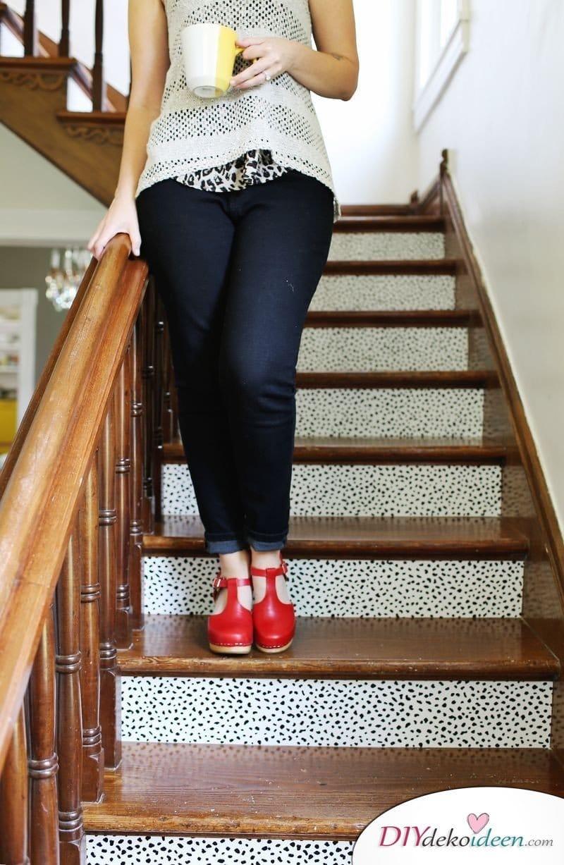 DIY Treppen-Deko Ideen - Treppe verschönern