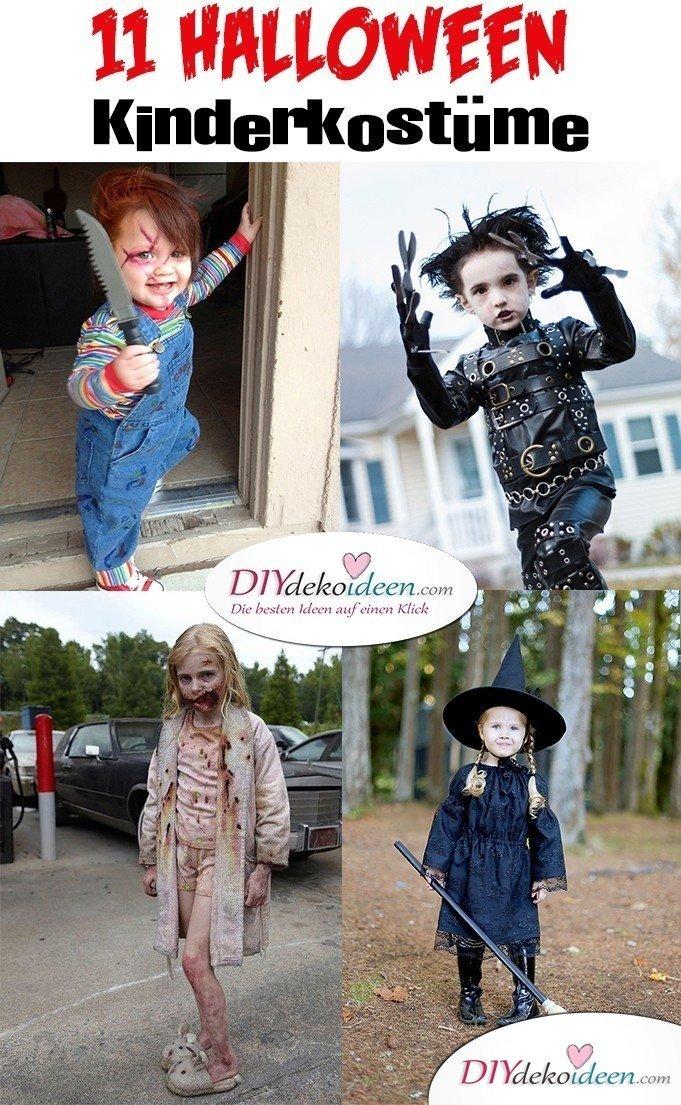 11 Halloween Kostüm Ideen für Kinder - Schaurige Kostüme selbermachen