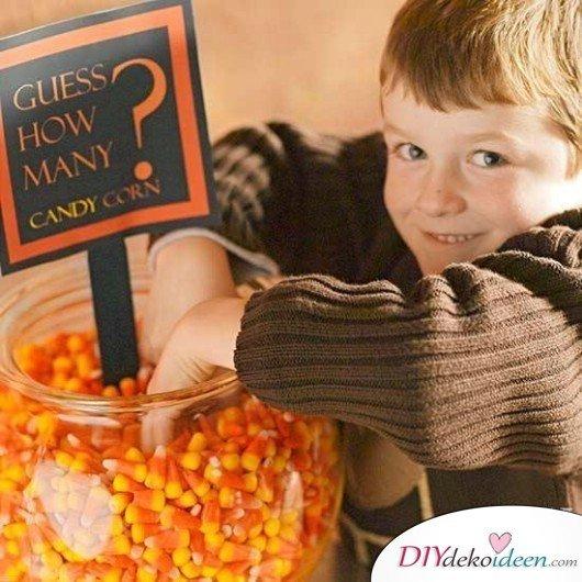 15 Halloween Party Spiele - Zähl die Süßigkeiten