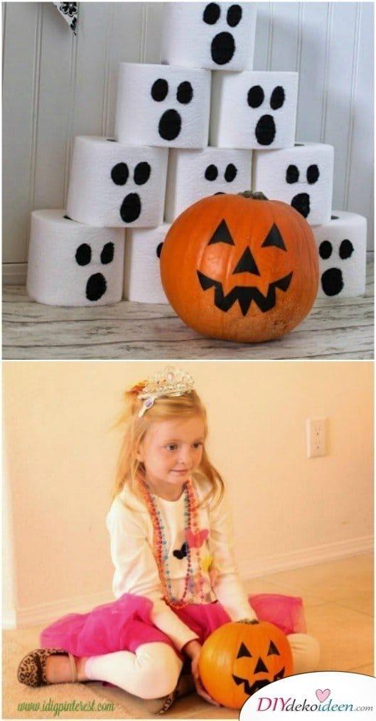 15 Halloween Party Spiele - Kürbis-Bowling