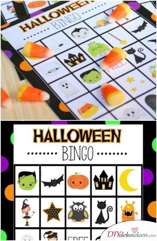15 Halloween Party Spiele - Halloween Bingo