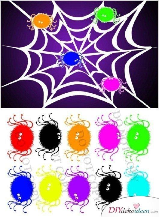 15 witzige Halloween Party Spiele - Steck die Spinne ans Netz