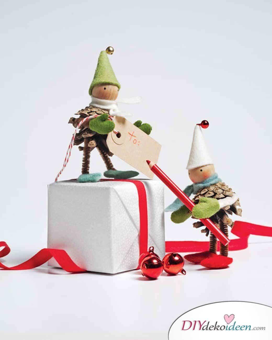 Basteln mit Tannenzapfen Weihnachten - 11 zauberhafte Bastelideen - Weihnachtswichtel
