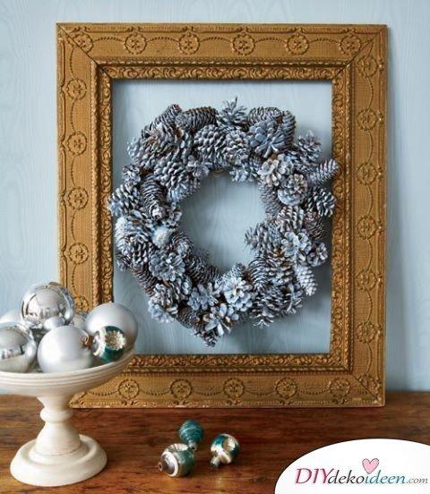 Basteln mit Tannenzapfen Weihnachten - 11 zauberhafte Bastelideen - Tannenzapfenkranz