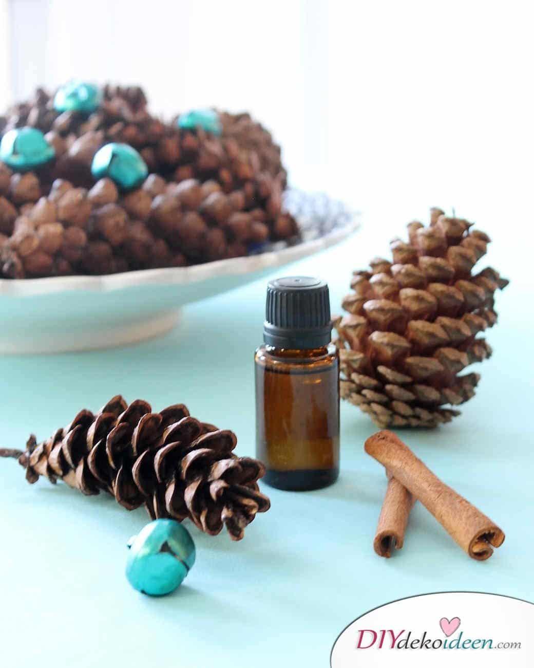 Basteln mit Tannenzapfen Weihnachten - 11 zauberhafte Bastelideen - Duftende Zapfen