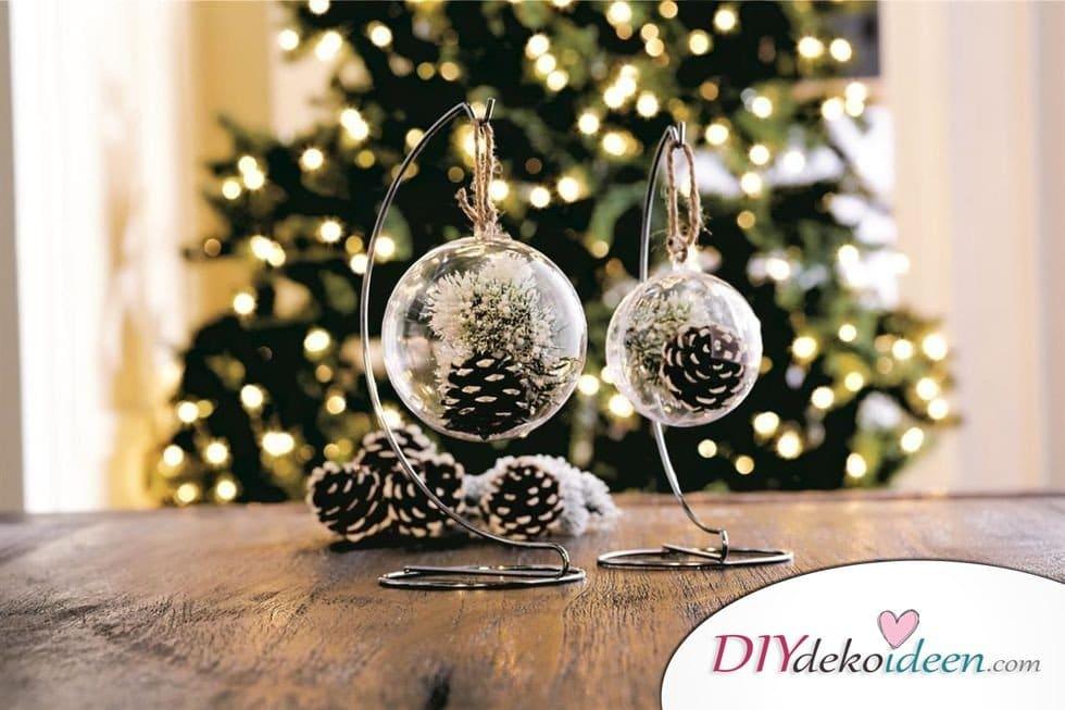 Basteln mit Tannenzapfen Weihnachten - 11 zauberhafte Bastelideen - Winterliche Ornamente