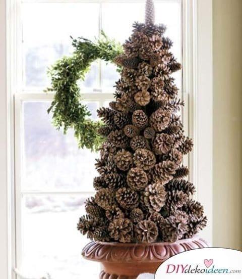Basteln mit Tannenzapfen Weihnachten - 11 zauberhafte Bastelideen - Tannenzapfenbaum